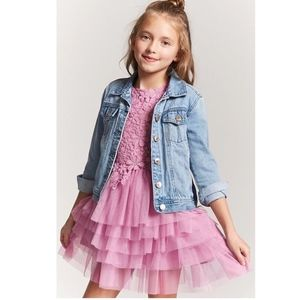 Forever 21 pink purple tulle party dress